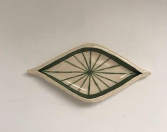 Green Diamond Eye Dish