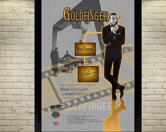 Sean Connery James Bond signed autographed Collectables gift film Goldfinger 007
