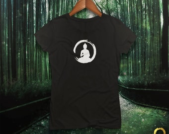Zen Monk Fitted Tee / Tshirt / Top for Ladies, Handmade and Unique
