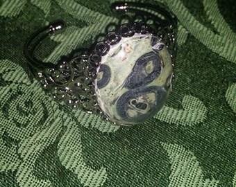Kambaba Jasper Gunmetal Cuff Bracelet