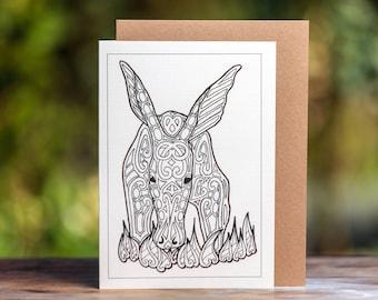 Aardvark Greetings Card