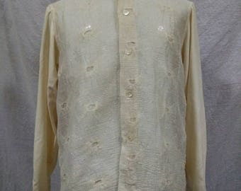 Equipment button shirt nice design 80s 90s made in France