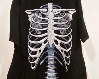 Zombie Skeleton chest graphic tee