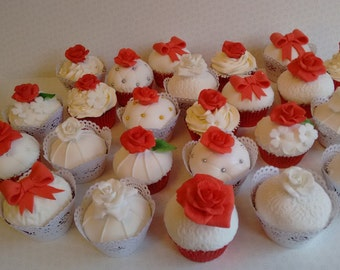 edible handmade roses, various colors and sizes