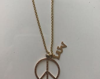 Peace & Luv Charmed Necklace