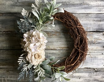 Farmhouse Wreath, Summer Wreath, Front Door Wreath, Farmhouse Decor, Wreath, Rustic Wreath, Spring Wreath, Farmhouse Wall Decor,SummerDecor