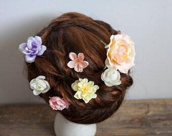 Bridal Hair Flowers, Silk Hair Flowers, Bridal Hair Accessories, Flower Hair Clip, Flower Hair Pin, Wedding Hair Flowers, Boho Hair Pins