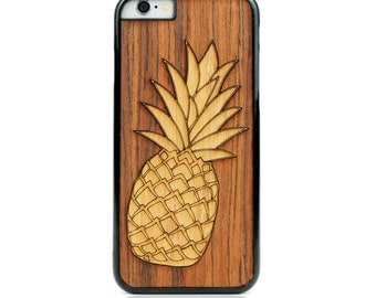 WOOD CASE- Natural Wood Phone Case- iPhone Case, iPhone 7 Plus, iPhone 7, iPhone 6 Plus, iPhone 6, iPhone 5, Samsung, LG (Model:Pin)