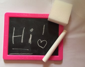 Doll size  Chalkboard set