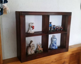 Wooden window frame turned shelf