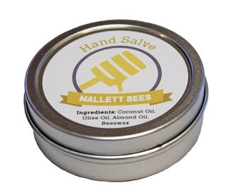 Beeswax hand salve from the bee yard at Mallett Bees