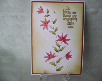 Greeting card, greeting card, birthday card, flowers, greetings