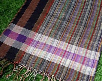 NATURAL Turkish Peshtemal Scarf  %100 Organic Cotton Oversized Scarf
