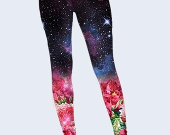 Poppies Leggings, Space Womens Leggings, Galaxy Printed Leggings, Yoga Leggings, Best Leggings, Cute Leggings, Fashion Leggings