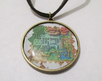 Legend Of Zelda Link To The Past Map Necklace