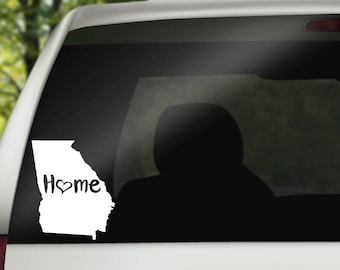 Georgia Decal, State Decal, Home Decal, State Car Decal, Laptop Decal, Tumbler Decal, Home Car Decal, Vinyl Decal, Water Bottle Decal