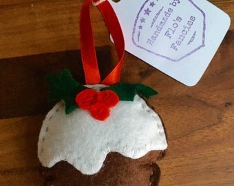 Hademade Felt Christmas Pudding Tree Decoration