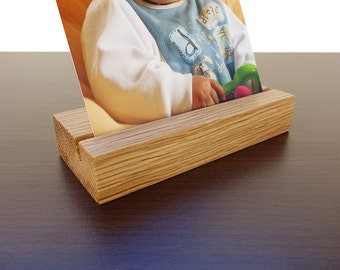 Wood Photo Holder. Wooden Postcard Holder. Wood Postcard Holder. Wood Card Holder. Office Card Display. Oak Card Holder.