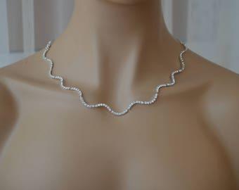 Solorio,Rhinestone Jewelry Set, Crystal Wedding Necklace Set, bridal jewelry set, wedding jewelry set, bridesmaid jewelry set.