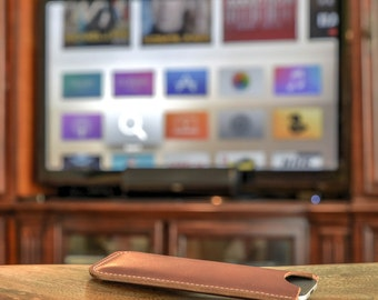 100% Handmade Leather Apple TV Remote Case - 4th Gen
