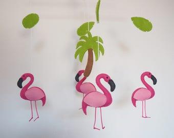 Flamingo mobile - Hanging mobile - Baby mobile - Cot mobile - Crib mobile - Nursery mobile - READY TO SHIP