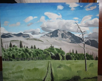 Oil Painting of Glacier National Park