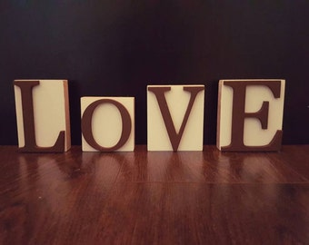 Wooden Love Blocks, Wooden Love Sign, Love Blocks, Love Sign