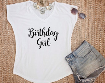 Birthday girl tee, birthday tee, celebration tee
