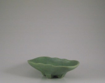 McCoy Light Green/Turquoise Speckled Planter - Shallow Dish