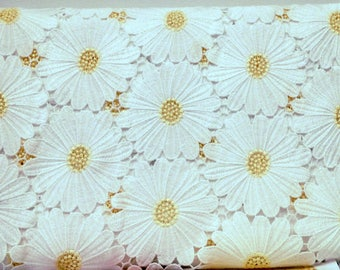 COTTON LACE Fabric by the Yard D&G White