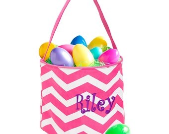 Monogram Easter Basket/ Personalized Easter Tote/ Personalized Easter Basket/ Easter Basket/ Easter Basket with Monogram