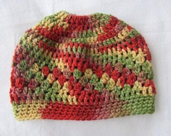 Crochet Elastic Messy Bun Hat