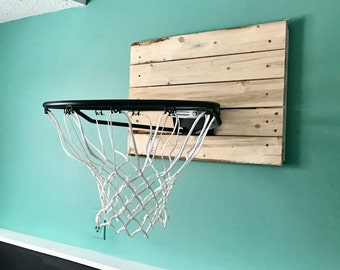 Vintage Basketball Hoop and Backboard Indoor