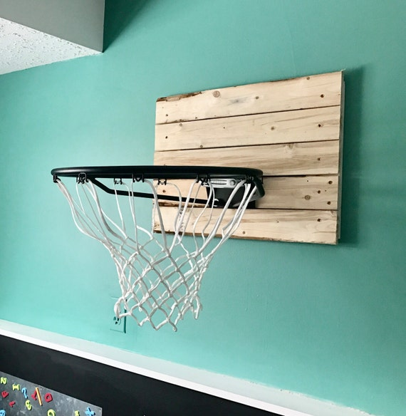 Rustic basketball hoop and backboard indoor for Basketball hoop inside garage