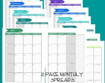 Sale!!! 2017 Dated Printable Planner Weekly Grid Style 8.25 X 6