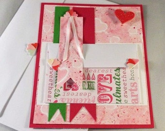 Valentines – Love Letter - handmade gift card holder for him or her with a matching envelope