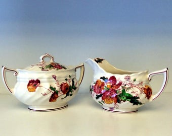Royal Doulton - Sherborne - Sugar Bowl and Creamer