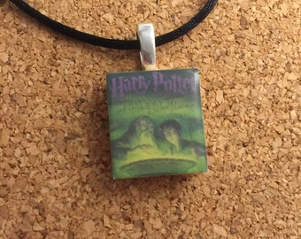 Harry Potter and the Half Blood Prince book cover Scrabble Tile Pendant