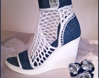 JEANS model wedge sandals