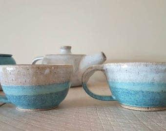 Set of two coastal teacups