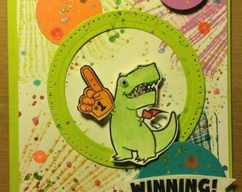 T-Rex Winning card