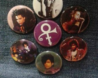 "Prince button set 1"" pinback Purple Rain Graffiti Bridge"