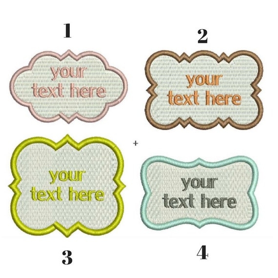 Custom Embroidered patch, Sew on patch,Personalized Custom Embroidery patch, Custom patches, Custom Made Patches baby name tag