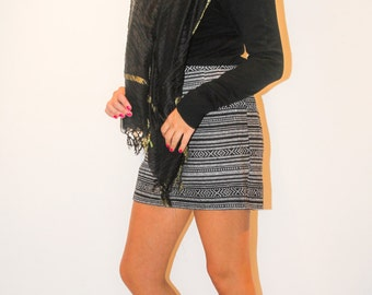 Skirt stripe style ethnic