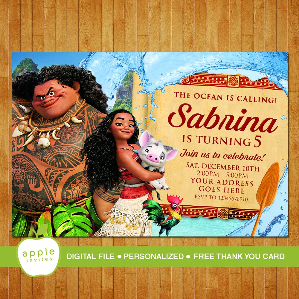moana invitation template free - moana invitation moana party moana birthday moana free