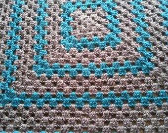 Teal and Charcoal Blanket