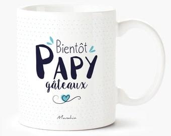 Mug for Grandpa soon POPs cakes, Grandpa, Grandpa Mug birth gift mug, pregnancy announcement