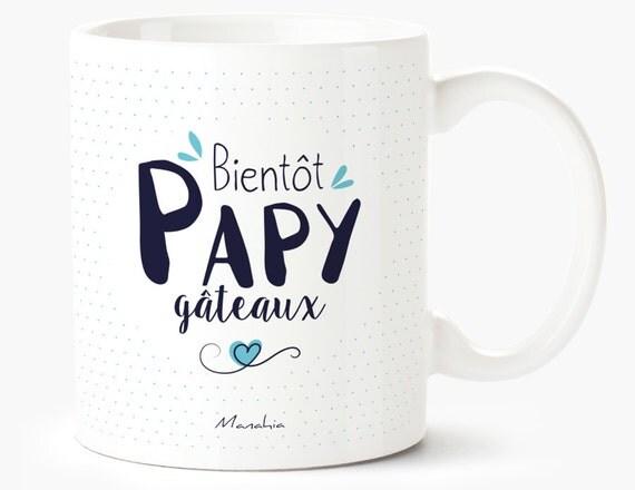 mug pour grand p re bient t papy g teaux mug papy cadeau. Black Bedroom Furniture Sets. Home Design Ideas