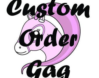 Custom Made Leather Ball Gag with Silicone Ball of your choice