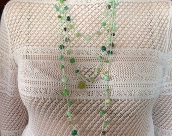 Crocheted bead jewellery set